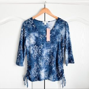 Dress Barn Sequin Encrusted Chined Top